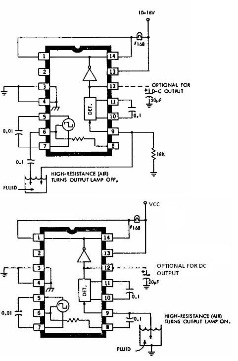 ULN2429 liquid detector circuit diagram electronic project