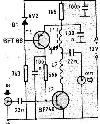 vhf antenna amplifier circuit electronic project design vhf antenna amplifier circuit