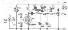 RF amplifier circuit diagram