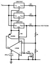LM317HV variable high current variable power supply circuit