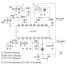FM IF MW radio receiver circuit schematic diagram