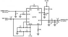 LM1596 single sideband (SSB) suppressed carrier demodulator circuit