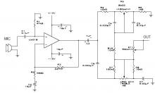 LM318 microphone preamplifier circuit