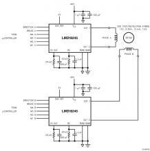 LMD18245 bipolar stepper motor driver circuit design
