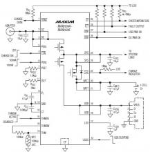 MAX8934 LiIon battery char­ger circuit diagram