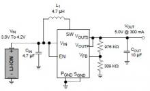 5v Battery step up circuit converter MCP1640