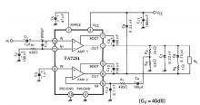 TA7281P 20 watt amplifier circuit