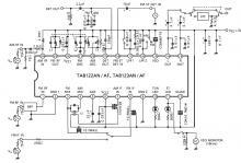 TA8122 AM FM radio receiver circuit