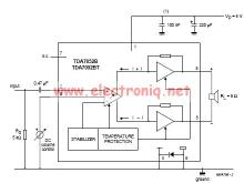 TDA7052 audio amplifier circuit diagram electronic project