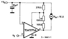 TDA7275A DC speed controller circuit design schematic