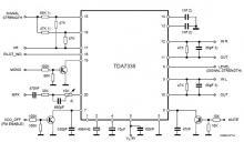TDA7338 FM stereo decoder circuit