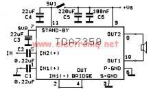 TDA7350 power amplifier circuit design bridge