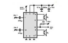 TDA8560 class B power amplifier circuit design