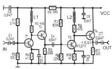 43 dB antenna amplifier circuit diagram