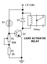Light switch activated relay circuits diagrams