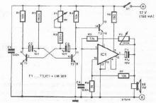 electronic siren circuit using LM389 IC