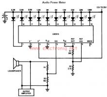 LM3915 audio power level meter circuit design electronic project