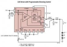 LTC3600 LED driver circuit design project