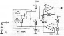 tlc272 proximity detector circuit