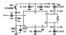 TDA7241 car audio power amplifier circuit