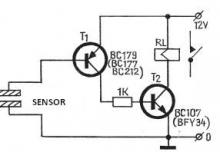 Touch switch circuit diagram electronic project using transistors