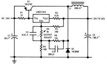 LM317 variable power supply circuit project