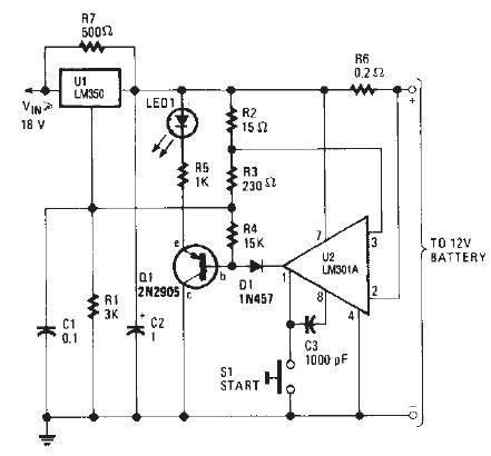 Lm350 Car Battery Charger Circuit Design Electronic Project
