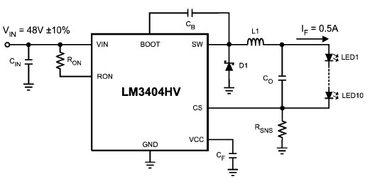 White Led Driver Circuit Diagram Using Lm3404