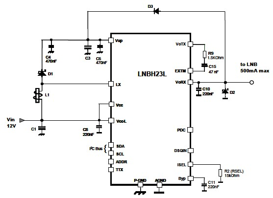 lnb power supply circuit diagram electronic project