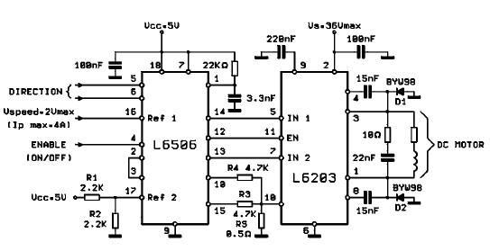 l6203 dc motor controller circuit. Black Bedroom Furniture Sets. Home Design Ideas