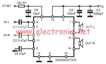 tda7377 class ab car radio amplifier circuit design