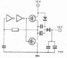 12 to 24 volt converter circuit design project