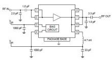 RF2126 high efficiency amplifier for 2.45 GHz ISM