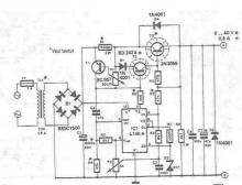 0-40V lab power supply circuit diagram electronic project using LM723 L146