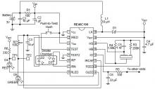 RE46C190 photoelectric smoke detector circuit