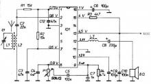TDA1083 Am radio receiver circuit diagram electronic project