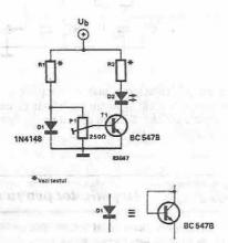 Simple temperature indicator circuit design electronic project