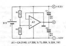 Symmetrical power supply circuit diagram